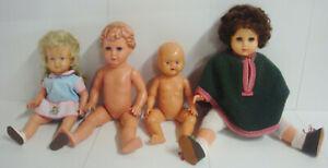 Antik 4 Puppen Gelenkpuppe Schlafaugen Stimme Schildkröt Jewel 45 Ok Kader Puppe