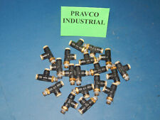 Lot Of 19 Pisco Pneumatic Airwater T Shape Quick Connect Tube 25 Npt