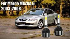 LED For Mazda6 2003-2008 Headlight Kit H1 6000K White CREE Bulbs Low Beam