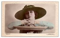 RPPC Jose Collins, Actress and Singer, Hand-Colored Real Photo Postcard *5D