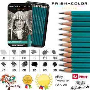 Prismacolor Premier 12 Turquoise Soft Graphite Sketching Pencil Set