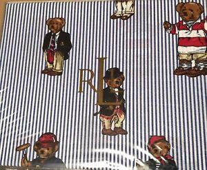 Ralph Lauren Polo TEDDY BEAR 3 PC TWIN SHEET SET Pillowcase 300 TC Cotton NEW