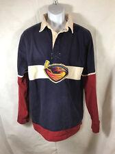 NHL Old Time Hockey Premier Atlanta Thrasher Long Sleeve Rugby Shirt Size M