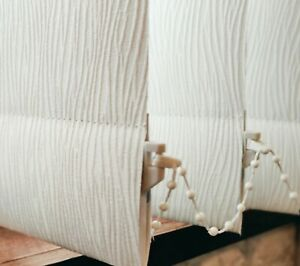 Vertical blackout blinds- Made to measure - Lucca Cream sizes Up to 4metres wide