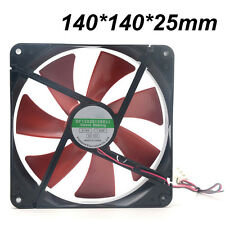 Silent 140mm PC Case Cooling Fans 14cm DC 12V 4D Plug Computer Cooler  4Pin