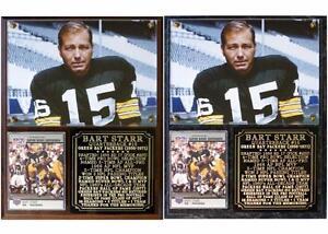 Bart Starr #15 Green Bay Packers Photo Card Plaque Super Bowl I & II HOF