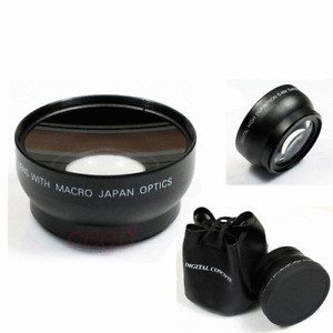 62mm Digital High Definition 0.45X Super Wide Angle Lens & Macro for Camera