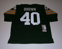 PACKERS Tom Brown signed custom green jersey w/ #40 JSA COA AUTO Autographed