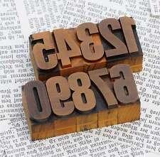 0-9 Zahlen 27 mm Plakatlettern letterpress Lettern Ziffern Stempel Typografie
