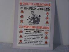E307 The Living Legend Bruno Sammartino Madison Square Garden signed Poster Coa