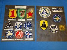 Korean War Patch Lot, All ROK
