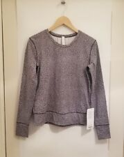 Lululemon Rush Hour Ls Nwt Sizes 2 4 6 8 12 Frfb Frozen Fizz Long Sleeve Brushed