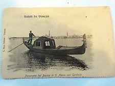 CARTOLINA POSTCARD Venezia - foto Carlo Naya - Panorama Bacino S. Marco Gondola