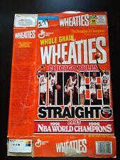 Chicago Bulls WHEATIES Cereal Box - NBA World Champions Three Straight 1991-1993