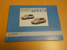 notice conduite entretien RENAULT megane octobre 2005