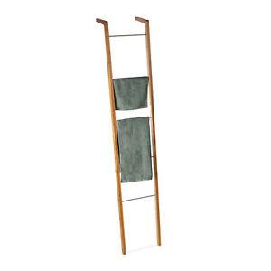 Leiterregal Bambus Handtuchhalter Dekoleiter Regalleiter Sprossen Kleiderleiter