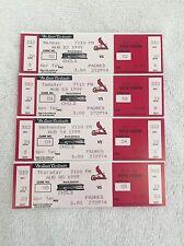 Mark McGwire 500 Home Run Full Ticket HomeStand Lot (4)