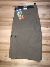 Orvis Voyager Mens Shorts Quick Dry Tech  Trail Khaki Size 34 Stretch Cargo  NEW