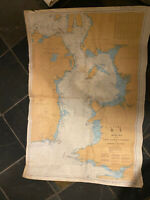 Large Vintage 1990s Colour Admiralty Chart 1121 Irish Sea