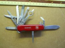 Wenger Colonel with nail file Swiss Army knife in red - Brandon, no glass