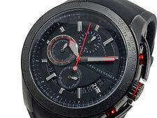 BRAND NEW ARMANI EXCHANGE AX1401 BLACK STEEL CHRONOGRAPH RUBBER BAND MEN'S WATCH