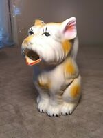 Antique Figural Creamer Terrier Dog  1920s. RARE hand painted ,Japan