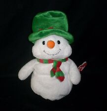 TY PLUFFIES 2006 CHRISTMAS WHITE MR SNOW SNOWMAN STUFFED ANIMAL PLUSH TOY W/ TAG