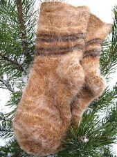 MEN's SOCKS SHEEP 100% PURE NATURAL WOOL yarn FLEECE Russian homeKnitted craft