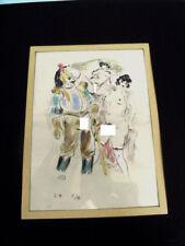 EROTISME / LE HUSSARD -EAU FORTE AQUARELLEE 1930 - BERTHOMME St ANDRE - ERO XV