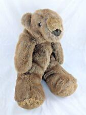 "Brown Furry Bear Plush Korea 16"""