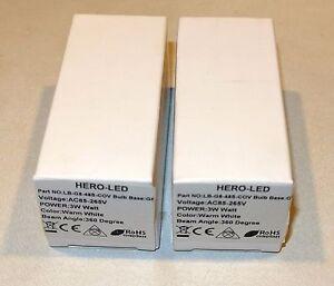 HERO-LED LB-G8-48S -COV 3w ~ AC-85-265V Warm White Color 360° 2 Pieces FREE SHIP