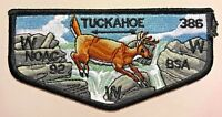 MERGED OA TUCKAHOE LODGE 386 YORK ADAMS AREA PA PATCH NOAC 1992 FLAP DELEGATE