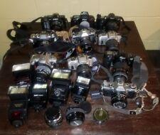 Vintage Lot of Cameras, Lenses,  misc Camera equip Nikon Minolta Yashica Cannon
