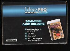 New Ultra Pro Graded Card Submission Semi Rigid Card Holder Box 100 count holder