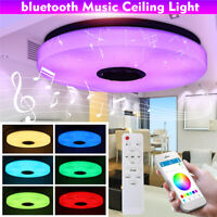 RGB LED Ceiling Lamp Music bluetooth APP/Remote Control Bedroom Pendant Light