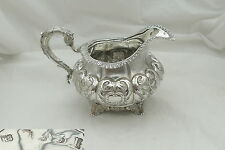 RARE IRISH George IV HM sterling silver cream jug 1829