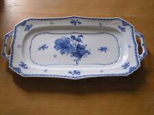 Utsawakan ( Utsble ) Blue Europe handled long dish tray platter 14+ inches Japan