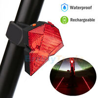 Rechargeable Bicycle Tail Lights Bike Cycling Safety Zone Tail Light 8 LED Red