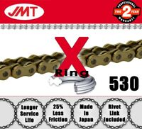 JMT Gold  X-Ring Drive Chain 530 P - 110 L for Harley Davidson Motorcycles