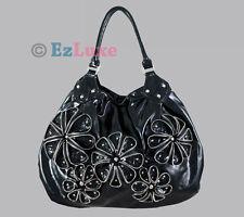 Celebrity designer Zipper Flower Hobo Large handbag shoulder bag satchel tote