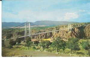 Postcard Panorama View Of Royal Gorge And Bridge Colorado RPPC Unposted