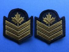 2 Lot 1980's Canadian Navy Petty Officer 2nd Class PO2 Shoulder Rank Patches 018