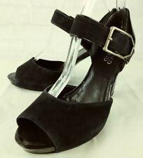 Franco Sarto Womens Shoes Heels VANITY US 7 M Blue Suede Buckle Ankle Strap 4138