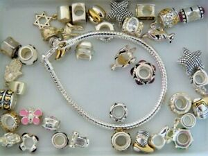Sterling silver charms and bracelets, BULK SALE 1562g (YES STAMPED)