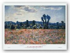 ART PRINT Poppy Field Claude Monet