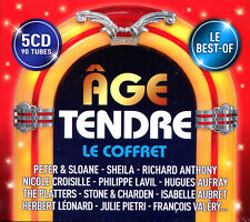 AGE TENDRE LE COFFRET BEST OF -  5 CD COMPILATION 90 TITRES - NEUF NEW