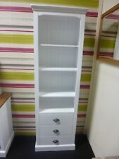 New French Tall White 3 Drawer Fully Assembled Bookcase *Furniture Store*