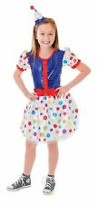CLOWN DRESS + HEADBAND (MEDIUM AGE 6-8), GIRLS COSTUMES, FANCY DRESS