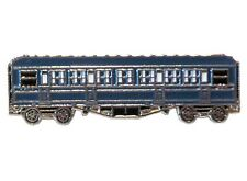 Blue Vintage Steam Train Coach Carriage Metal Enamel Pin Badge
