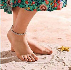 Crystal Diamond Anklets Silver Ankle Bracelet Beach Foot Chain for Women Girls
